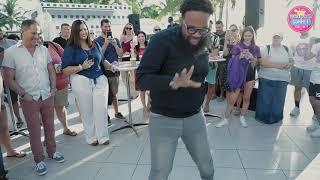 "Y100's Elvis Duran Summer Pool Party - Blanco Brown Performs ""The Git Up"" Video"