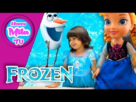 Frozen Singing Sisters Anna and Elsa Both Say 15 Phrases in English and Spanish | HappyMilaTV #293
