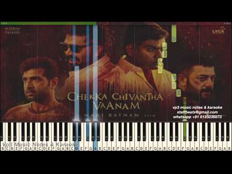 AR Rahman Mazhai Kuruvi/Neeli Kannumallo (nawab) Piano, Guitar, Flute, Saxophone, Voilin Notes