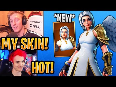 Streamers React to *NEW* (Mercy) Ark Skin!  - Fortnite Best and Funny Moments thumbnail