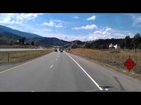 Approaching Eagle, Colorado on Interstate 70 Westbound.