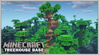 Minecraft: How to Build a Starter Survival Treehouse Base [Minecraft Timelapse]