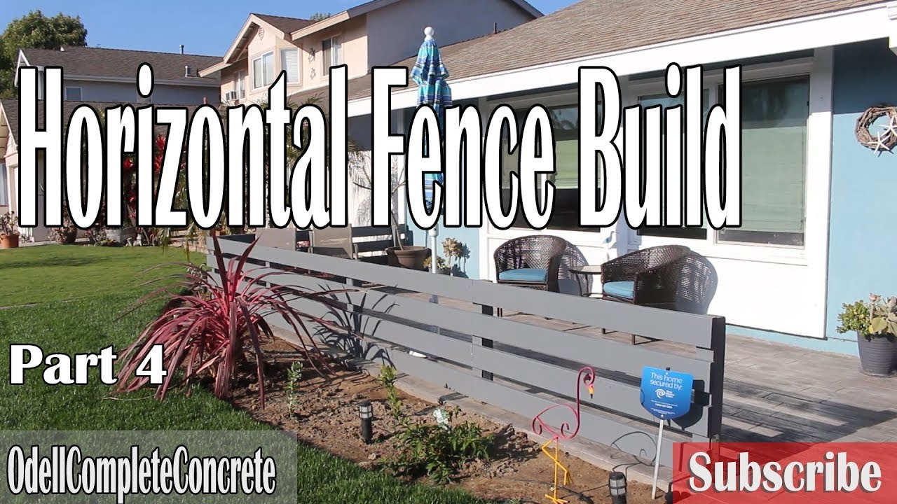 How To Build A Horizontal Fence Gate Front Yard Remodel Part 4