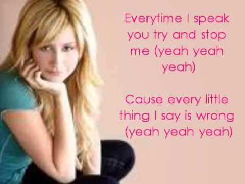 ashley tisdale what if lyrics