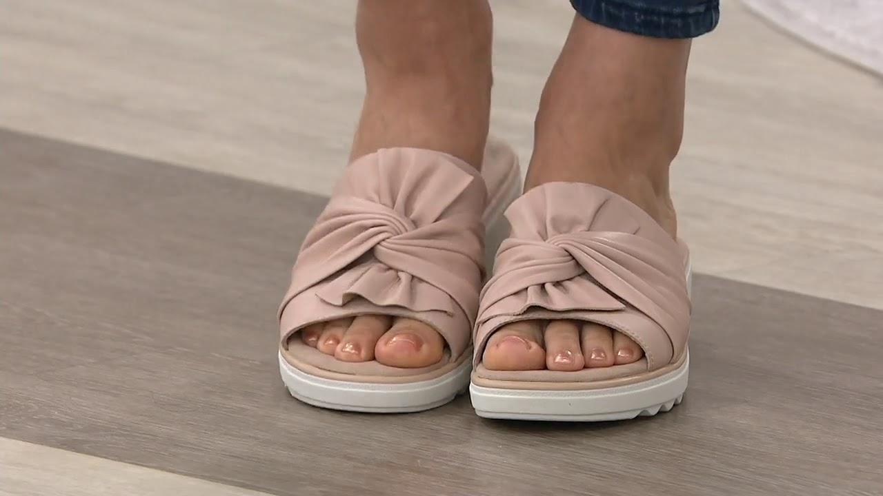 Clarks Collection Wedge Slide Sandals