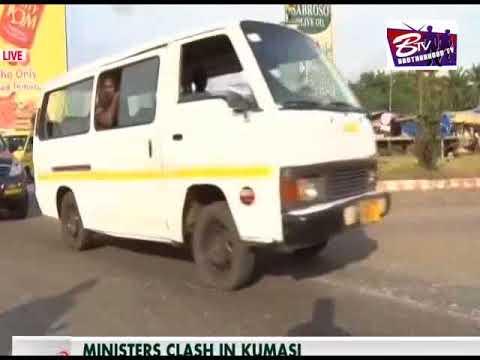 minister of transport visit Kumasi-Ghana