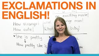Exclamations in English!!!
