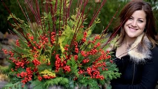 How to Make a Pretty  Winter Container
