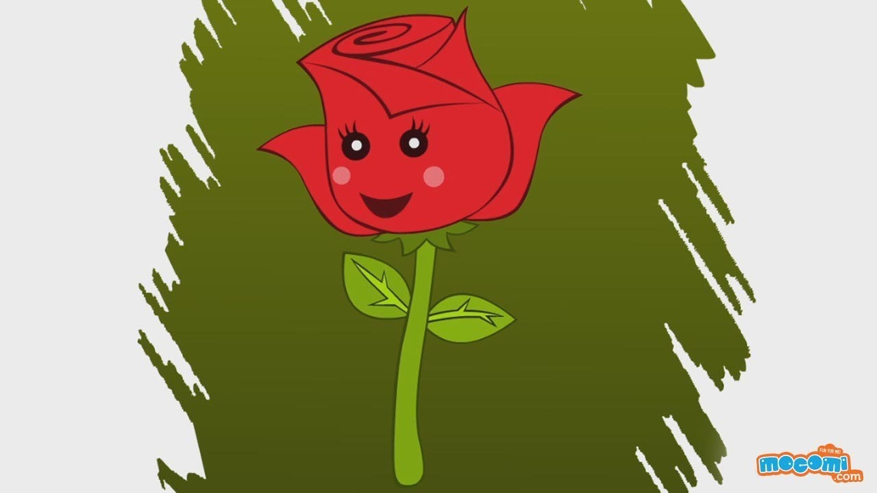 How to Draw a Rose - Step By Step Drawing for Kids | Educational Videos by Mocomi