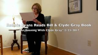 Robbie Evans Reading Clyde Gray Book