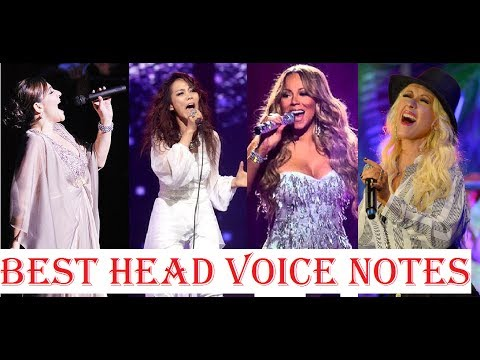 Best Head Voice/Falsetto Notes - Female Singers - YouTube
