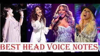 Best Head Voice/Falsetto Notes - Female Singers