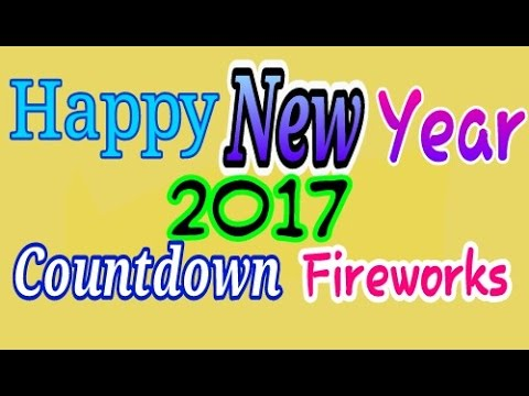 Happy New Year 2017  Countdown  Fireworks  Live Wallpaper