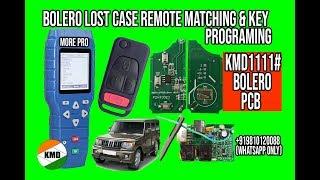 KMD MAHINDRA BOLERO LOST CASE FLIP REMOTE MATCHING AND KEY PROGRAMING