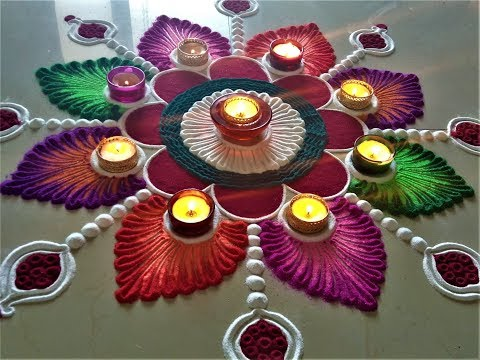 Very Attractive and Creative Rangoli for Deepawali|Easy Rangoli by Shital Mahajan. thumbnail