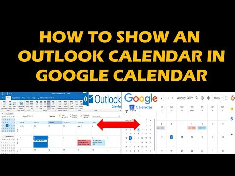 HOW TO SHOW AN OUTLOOK CALENDAR IN GOOGLE CALENDAR!!