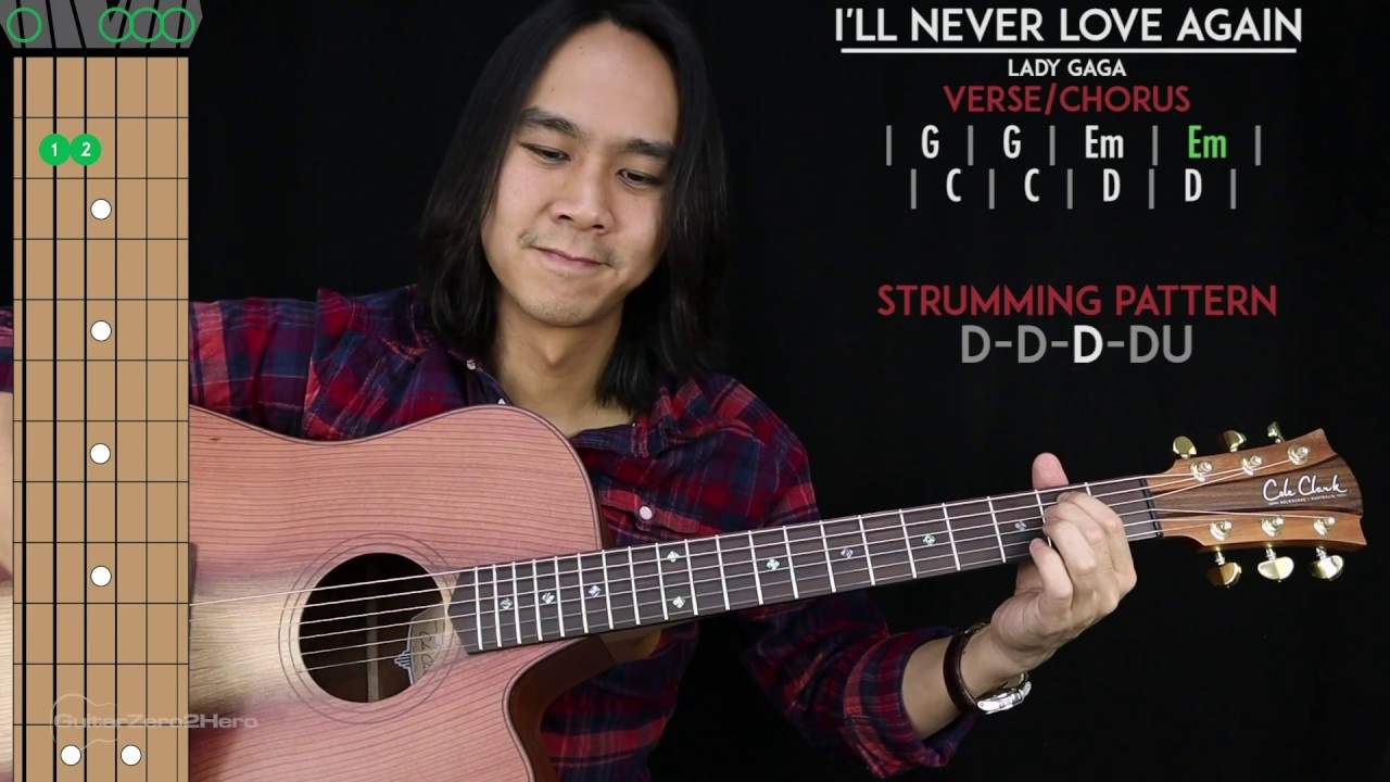 Chord Gitar Ill Never Love Again Extended Version Lady