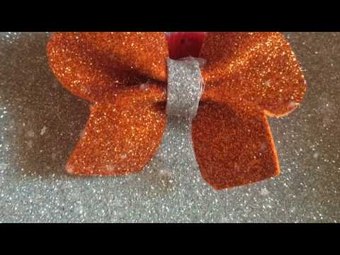How to make glitter sheet butterfly bow hair band