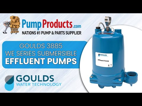 Goulds WE1512HH, Submersible Effluent Pump, Model 3885, Series WE, on