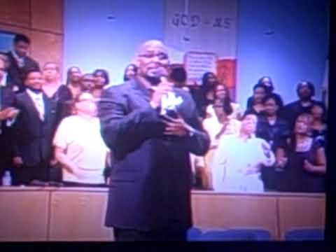 "Rev Demetrius McClendon singing ""More Than Just Su..."