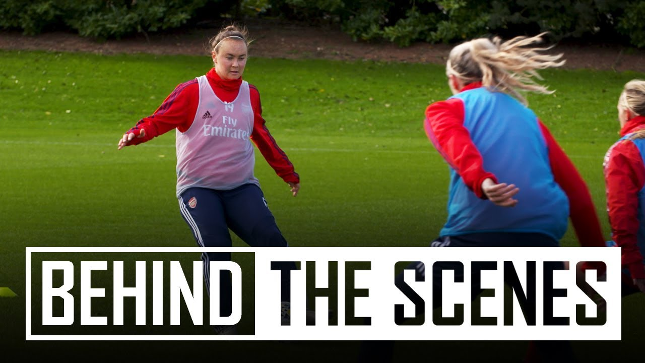 Caitlin Foord's first Arsenal training session | Behind the scenes
