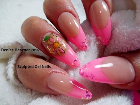 It\'s HOT HOT HOT NEON PINK GEL NAILS !!!! - YouTube