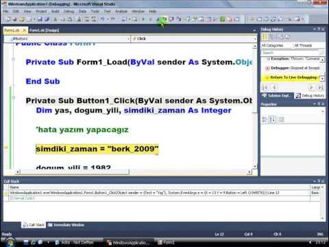 Visual Basic .NET - Ders 257 : Hata Numarası Ve Hata Özelliği