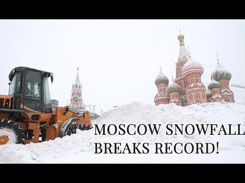 SNOWFALL OF THE CENTURY: Moscow Enveloped By A White Armageddon