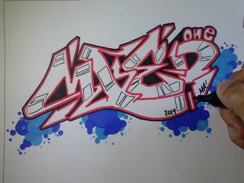 Download video graffiti sencillo en papel mied - Graffitis en papel ...