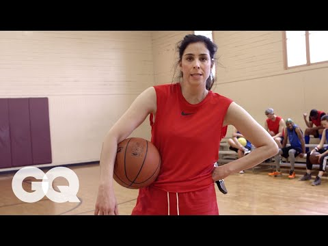 Sarah Silverman Plays Pickup Basketball And is a Terrible Teammate  GQ