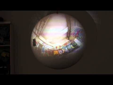 styro globe projection mapping panorama