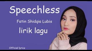 Speechless - Naomi Scott (Cover) by Fatin Shidqia Lubis with Lyrics