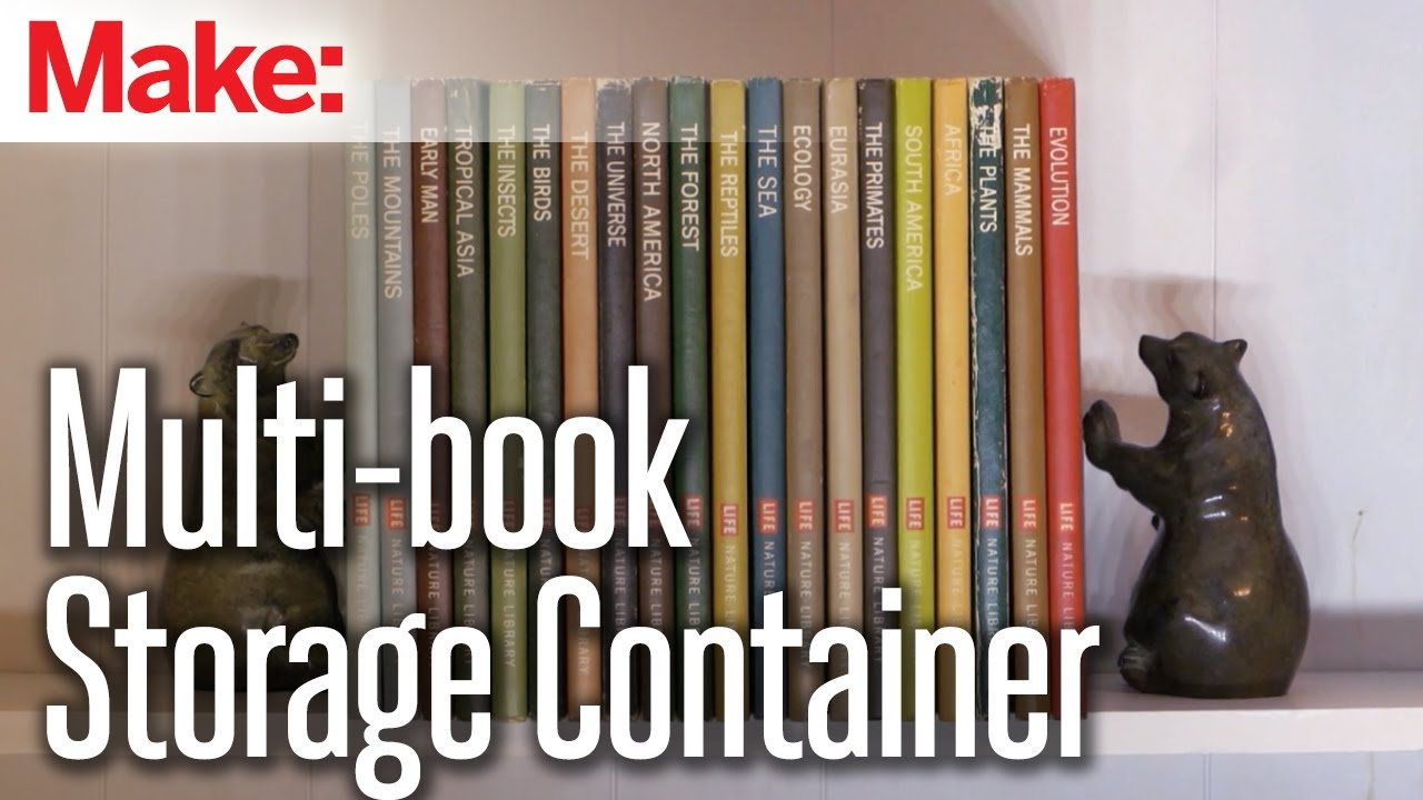 DIY Hacks U0026 How Tou0027s: Multi Book Storage Container   YouTube
