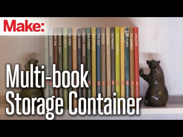 Make a Secret Compartment Out of Multiple Books