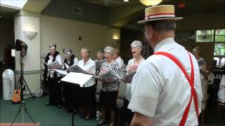 young at heart chorus singing a medley at las Cruces nursing home  on sept 12 2013