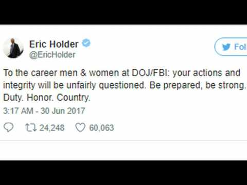 "Eric Holder Sends Out Ominous Late Night Tweet to ""Career FBI/DOJ"" Employees"