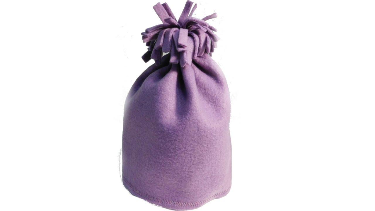 Bommel Mütze aus Fleece nähen. Schell und einfach. Anleitung - YouTube