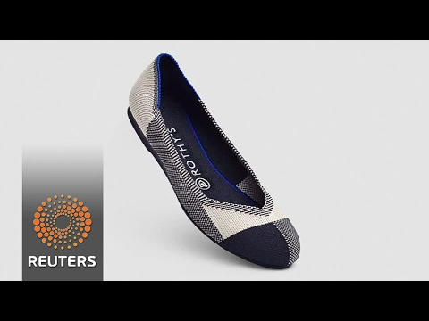Fashion trending footwear made from recycled water bottles
