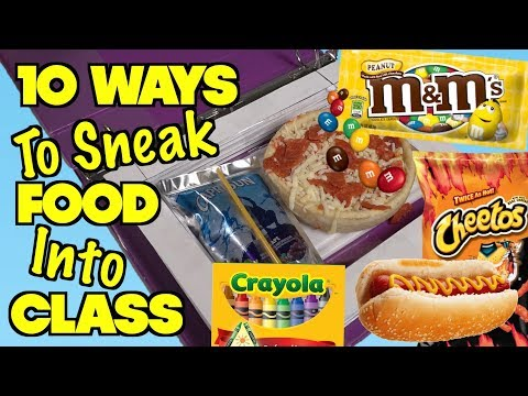 Top 10 Ways To Sneak Food And Candy Into Class Without Getting Caught - School Hacks | Nextraker