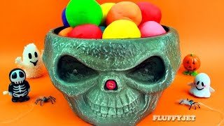 halloween play doh surprise eggs spooky toys thomas friends minions witch shrek moshi monsters