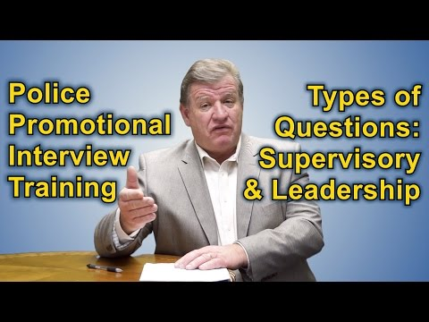 Police Promotional Oral Board Interview Types Of Questions