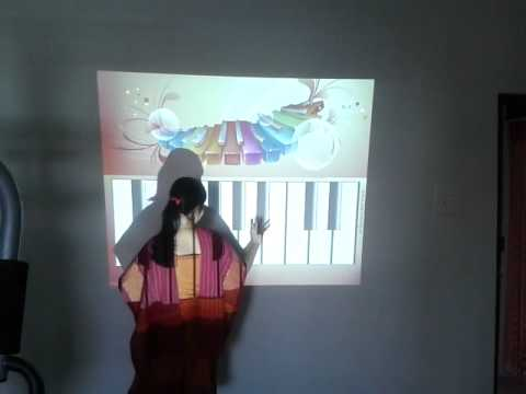 Interactive Projection Piano
