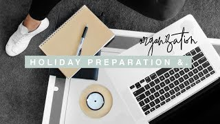 Holiday Preparation & Organisation - Cleaning, Beauty Prep & Packing
