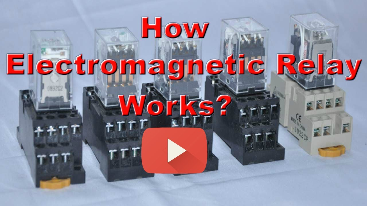 Electromagnetic Relay Construction And Working Explained In Detail Armature Engineeringhub Electromagneticrelay