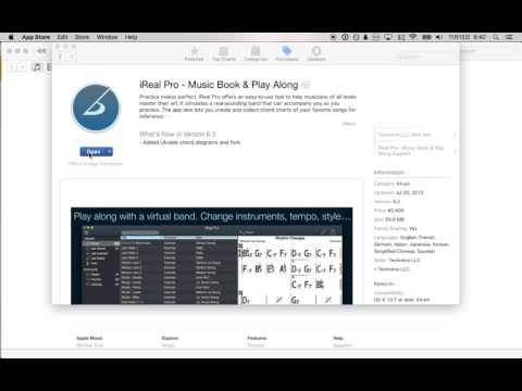 Installing iReal Pro onto your Mac