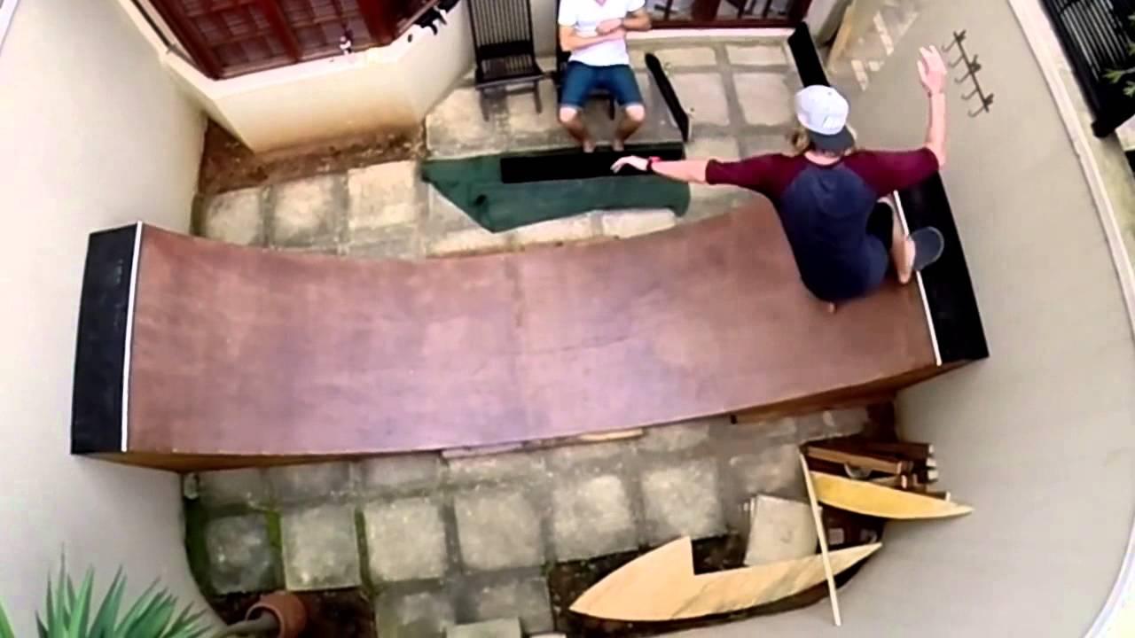 backyard mini ramp first session youtube