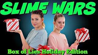 Slime Wars Box of Lies Christmas Edition| Sis vs Sis Holiday Video | Taylor and Vanessa