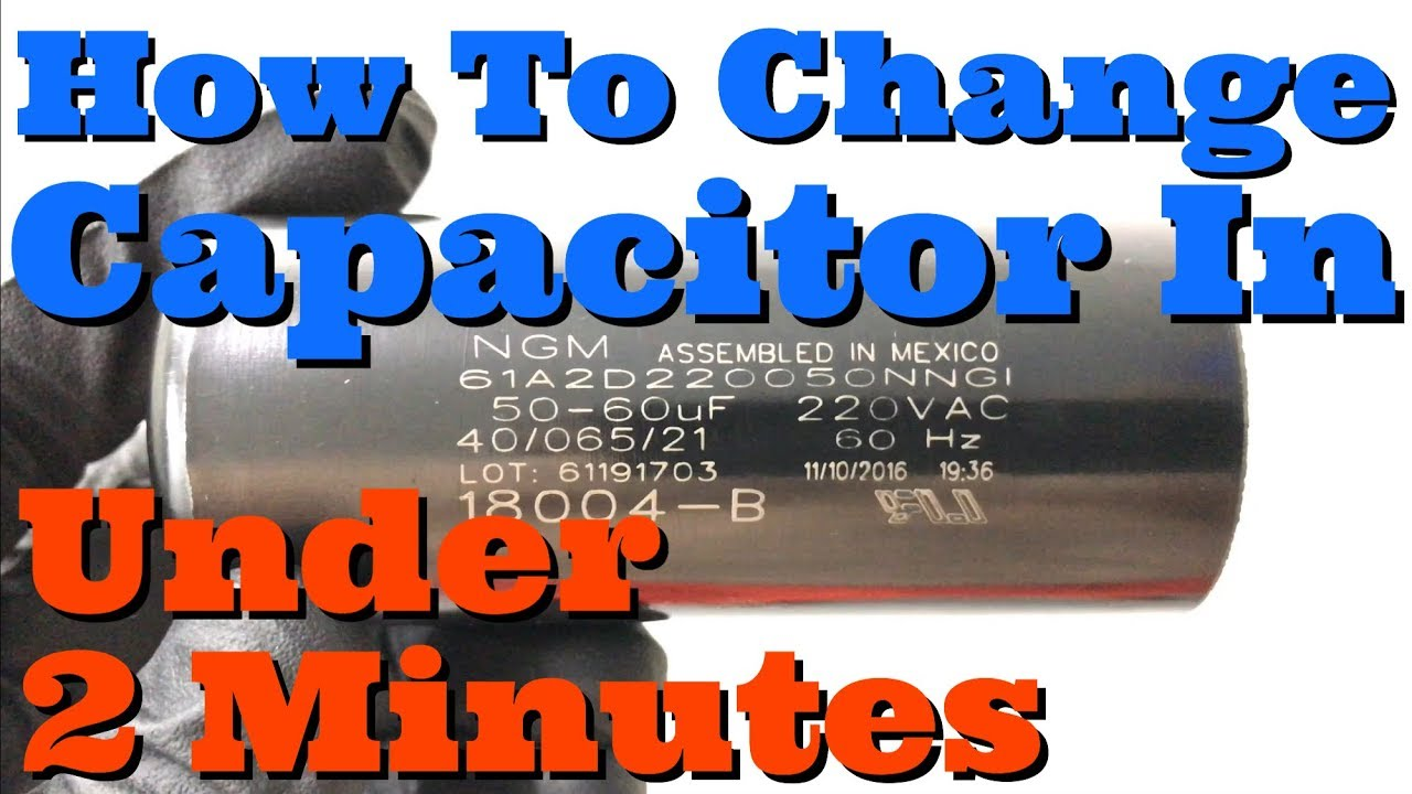 garage door capacitorHow To Replace Capacitor In Garage Door Opener Genie 18004B  YouTube