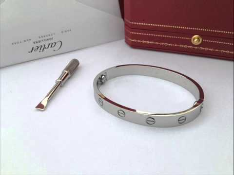 Cartier Love Bracelet Silver Rose Gold Yellow