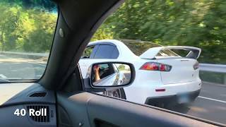 Evo X calls out Genesis Coupe and blows transmission!!!